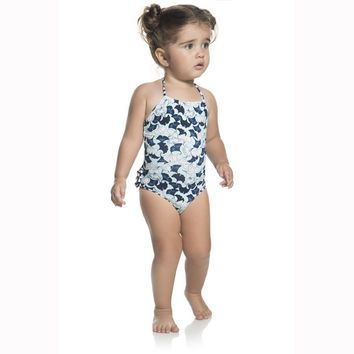 Ondademar Baby Girls Lotto High Neck One Piece Swimwear