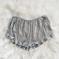 Rory Ruffle Shorts (Heather Gray)