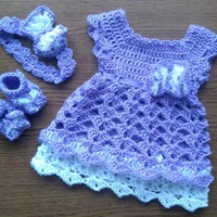 Purple Baby Girl Coming Home Outfit, Crochet baby Girl Clothes, Baby Headband ,newborn girl outfit, Crochet Photo prop, take home Outfit