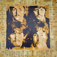 Beatles Art Hand Pulled Serigraph Music One of a Kind George John Ringo and Paul