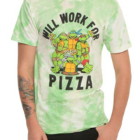 Teenage Mutant Ninja Turtles Will Work For Pizza T-Shirt