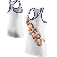 Nike LSU Tigers Ladies Warp Tri-Blend Performance Tank Top - White