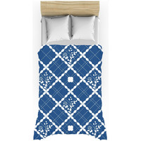Nautical blue pattern duvet cover