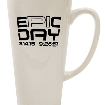 Epic Pi Day Text Design 16 Ounce Conical Latte Coffee Mug by TooLoud