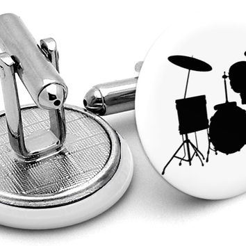 Drum Kit Cufflinks