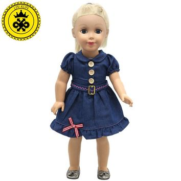 American Girl Doll Clothes Handmade Suspender/Cowboy/Dot 3 Style Skirt For 18 inches American Girl Doll Alexander Dress 2017 New