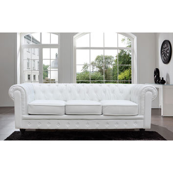 Madison Home Chesterfield Tufted Scroll Arm Sofa | Overstock.com Shopping - The Best Deals on Sofas & Loveseats