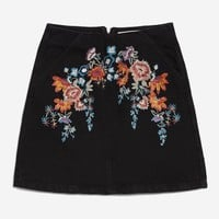 MOTO Bright Floral Denim A-Line Skirt - Shop All Sale - Sale