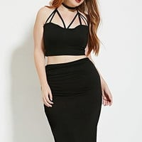 Plus Size Strappy Bustier