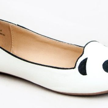Cute to the Core Animal ZOO Flats Panda Bear Sheep Unicorn Cow Slip On Ballet Flats