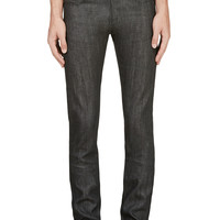 Naked And Famous Denim Charcoal 12.5oz Selvedge Denim Skinny Guy Jeans