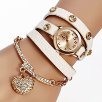 Heart on My Wrist Wrap Watch Bracelet- Save 99% Today