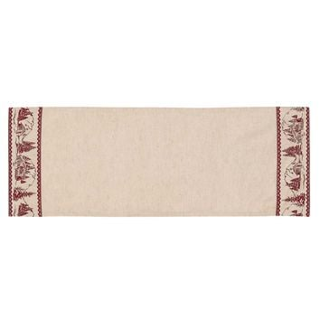 Cabin Christmas Runner 13x36