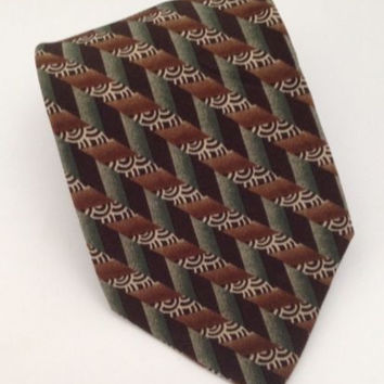 Christian Dior Monsieur Tie Mens Silk Necktie Green 4 x 60 Made in USA
