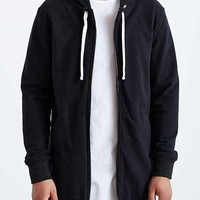Drifter Nicholas Zip-Up Hooded Sweatshirt- Black