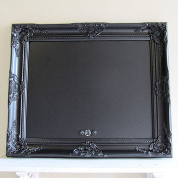 Black Framed CHALKBOARD Wedding Sign Magnetic Kitchen Chalk Board Black Board Vintage Style Gothic Black Tie Wedding - MORE COLORS