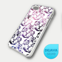 Cat Face Pattern Galaxy iPhone 5 Case