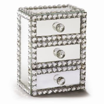 Mirror 3 Drawer Jewelry Box