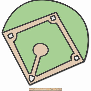 Funnest Baseball Diamond -Wooden Boy, Todler Kids Room Decor Idea