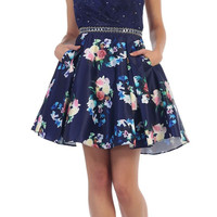 Prom Short Floral Dress Homecoming Cocktail Party