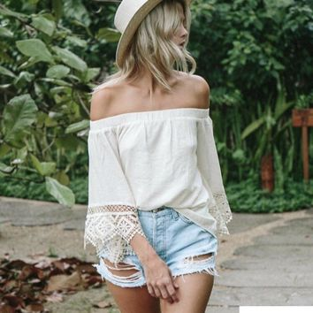 Gina Lace Off The Shoulder Top
