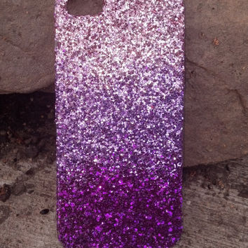 glitter iphone 4 iphone 5 case glitter case  ombre faded case