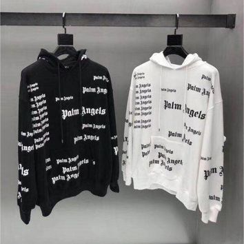 18 New Palm Angels Hoodie Men Women 1:1 Autumn Winter Full Printing Palm Angels Sweatshirts Fashion Palm Angels Hoodie Pullover