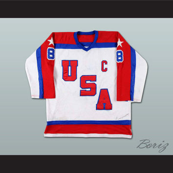 Phil Verchota US TEAM  Hockey Jersey Stitch Sewn NEW Any Size Any Player or Number