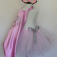 Supergirl Inspired Tutu with Cape and Mask