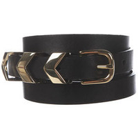 Metal Chevron Keeper Belt - Belts  - Accessories  - Topshop