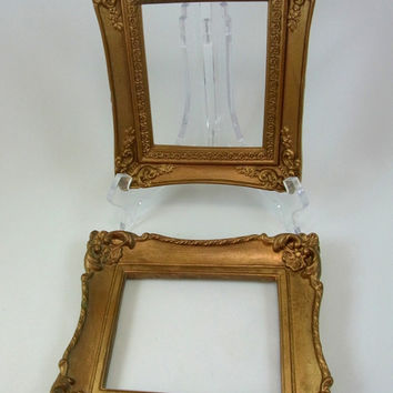 Pair of Ornate Gold Picture Frames Vintage Picture Frames Wall Decor Home Decor Cottage Chic