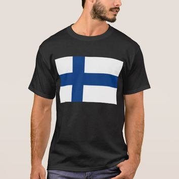 T Shirt with Flag of Finland