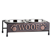 "Top Paw® ""Woof"" Double Diner Dog Bowl"
