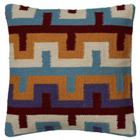 "Woven Southwestern Pattern Blue Pillow Cover (18"" x 18"")"