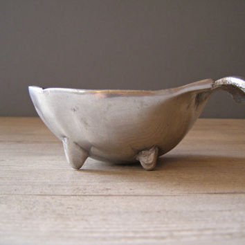Vintage Pewter Bowl Fish shape small bowl by MeshuMaSH on Etsy
