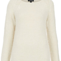 TOPSHOP Knitted Fluffy Stitch Jumper