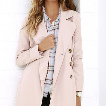 Jack by BB Dakota Monroe Blush Trench Coat