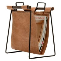 Leather & Iron Sling Magazine Holder