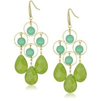 "David Aubrey ""Jacqueline"" Four Circle Chandelier Earrings"