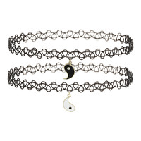 Yin Yang Charm Tattoo Chokers