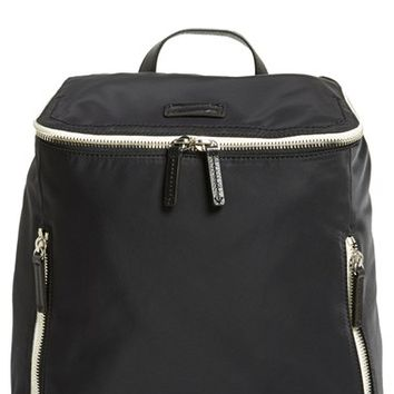 Men's Ben Minkoff 'Indy Dad' Nylon Baby Backpack - Black