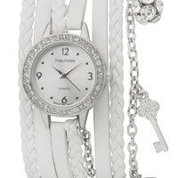 wrap watch with charms