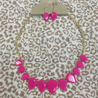 Colored Raindrop Necklace