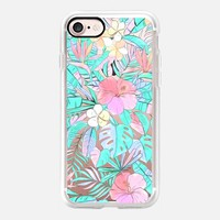 Pastel Hawaiian Pattern on transparent iPhone 7 Case by Micklyn Le Feuvre | Casetify
