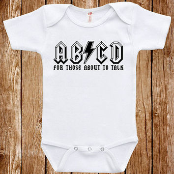 Funny Baby Infant Bodysuit Clothes One Piece Romper Joke Boy Girl Baby ABCD Fun Geek Adorable Cute Shower Gift