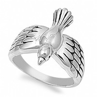 Eliana's Inspirational Silver Dove Ring