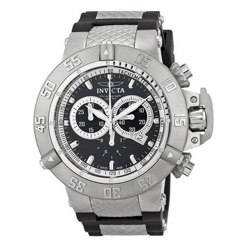 Invicta Subaqua Collection Black Dial Stainless Steel Chronograph Mens Watch