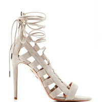 Amazon Lace-Up Suede Sandals by Aquazzura - Moda Operandi