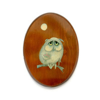 Sad Owl Wall Hanging
