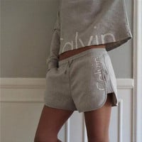 Long Sleeve Top and Drawstring Shorts with and without Hood